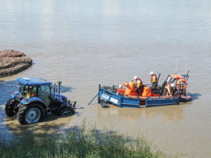 tractor helping at severn