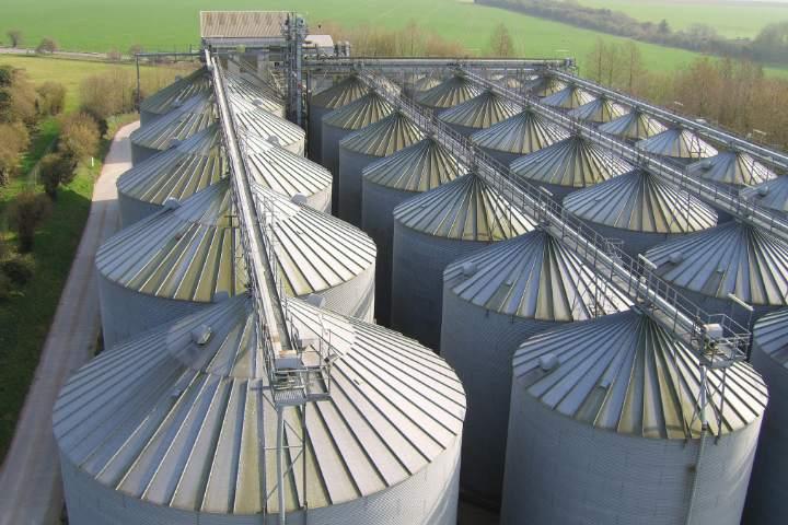T H WHITE grain stores