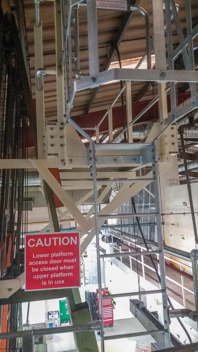 installating steel platform