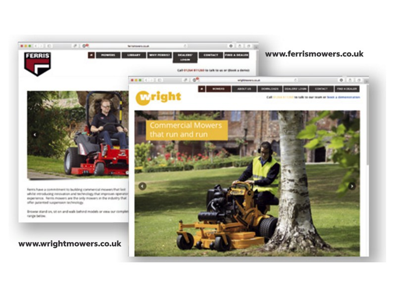 NEW WEBSITES FOR FERRIS AND WRIGHT MOWERS