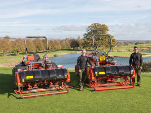 two Wiedenmann aerators on golf course