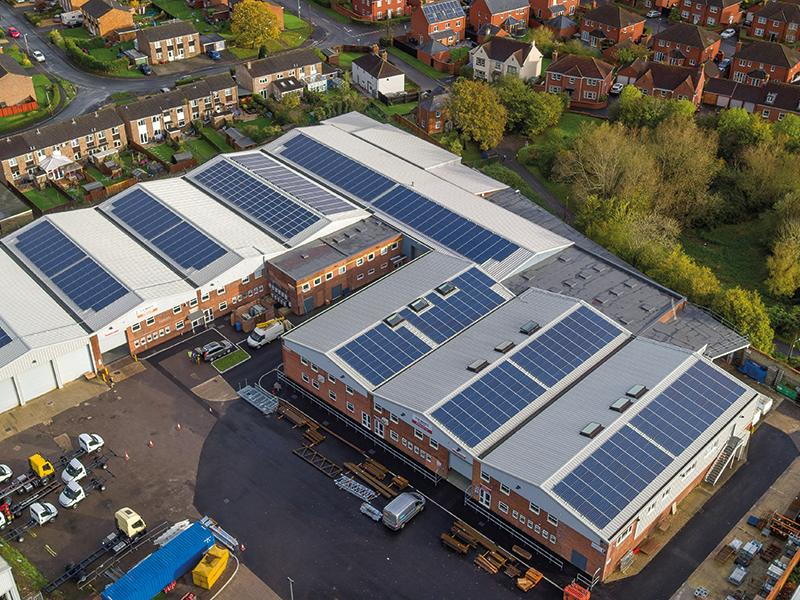 NEW 248kwp SOLAR INSTALLATION AT T H WHITE DEVIZES OFFICES
