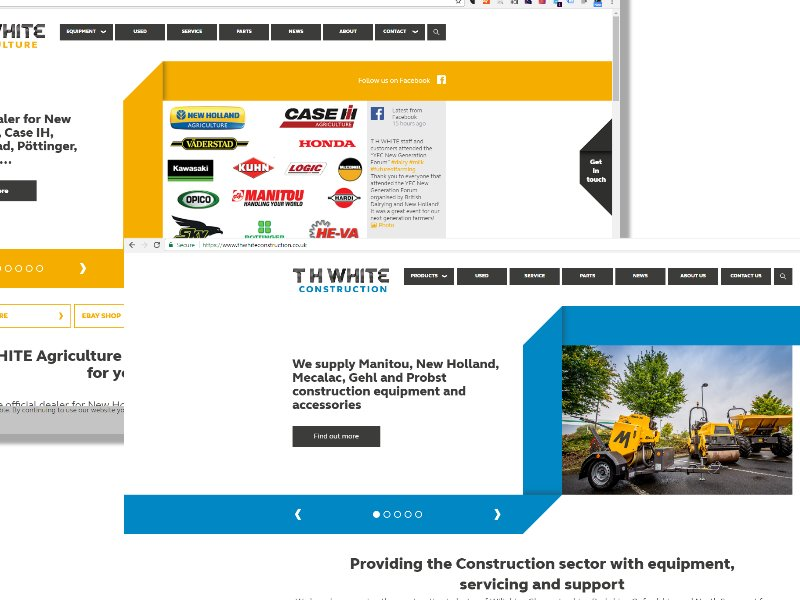 NEW WEBSITES FOR AGRICULTURE AND CONSTRUCTION