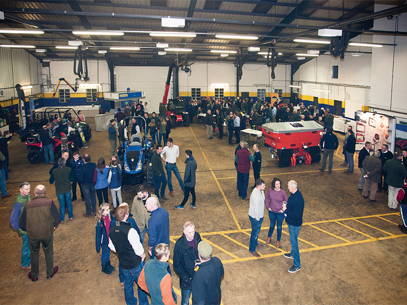Hundreds of guests attended the T H WHITE open evening at Knockdown