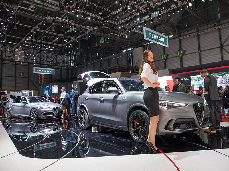 NRING editions of the Alfa Romeo Stelvio and Giulia at the Geneva Motor Show