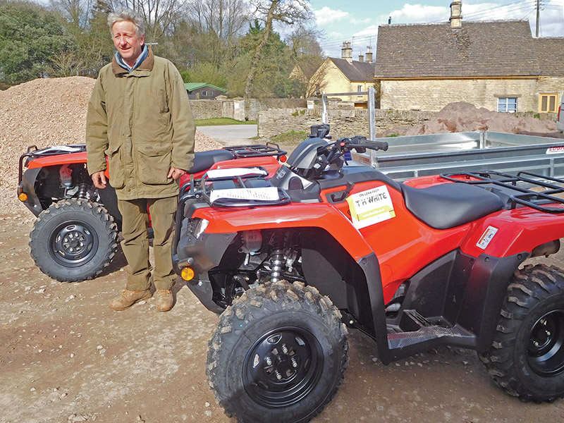 Harry Verney with T H WHITE's Badminton ATVs