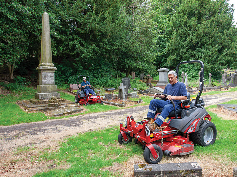 Ferris mowers are ideal for the challenging groundwork at Coventry's historic London Road cemetery