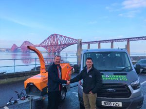 Bill Johnston and Tom Brown from new Jensen dealer Field & Forest Machinery