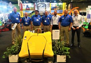 Machinery Imports team with Spider representatives and the new Spider X Line at Saltex 2018