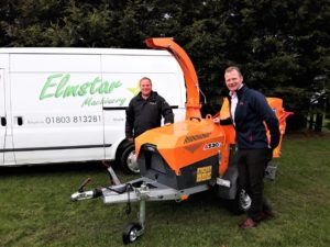 Elmstar Machinery director Jason Wignall with Jensen's Bill Johnston