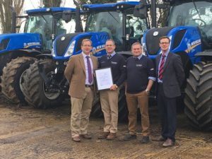 T H WHITE Agriculture scoop New Holland national award