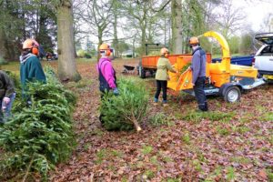 Jensen woodchippers support Dorothy House fundraiser at Wiltshire College Lackham