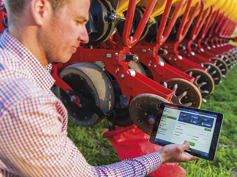 Vaderstad-E-control on a tablet