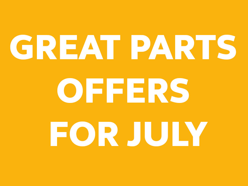 GREAT PARTS OFFERS FOR JULY