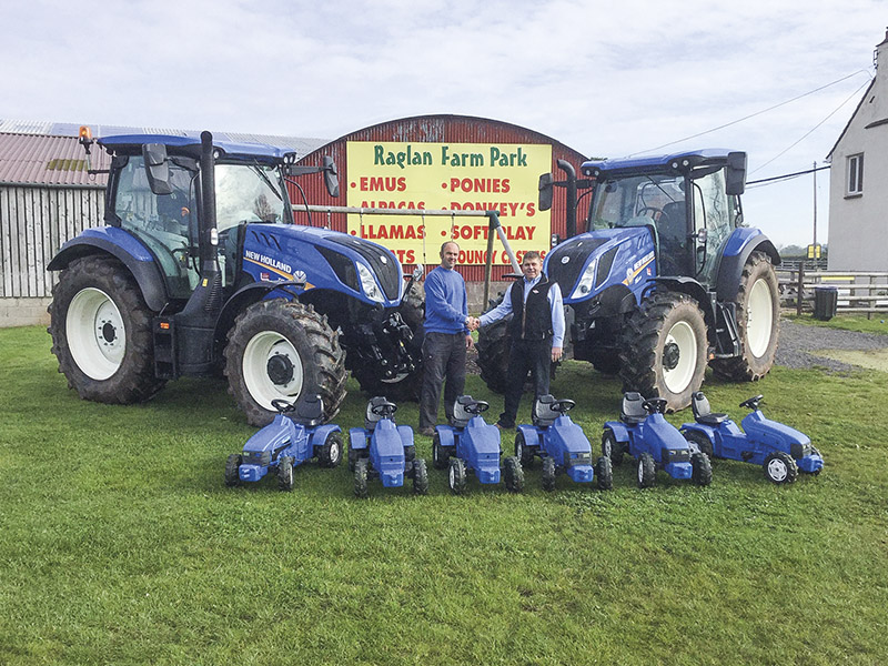 TWO T6 TRACTORS FOR RAGLAN FARM PARK