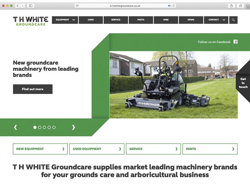 NEW WEBSITE FOR T H WHITE GROUNDCARE