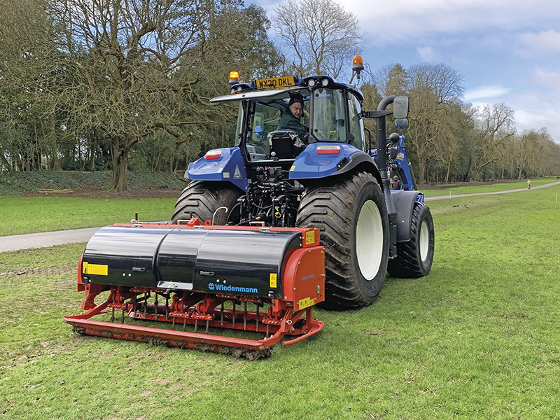 NEW HOLLAND AND WIEDENMANN COMBO FOR COTSWOLD TURFCARE