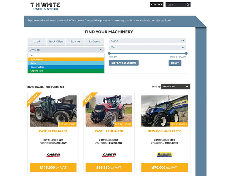 NEW LOOK FOR USED WEBSITE