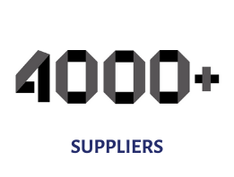 4000 suppliers