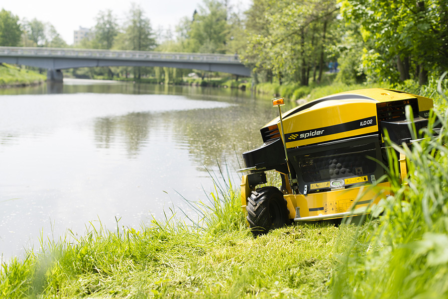 SPIDER MOWERS – IDEAL FOR DANGEROUS CONDITIONS