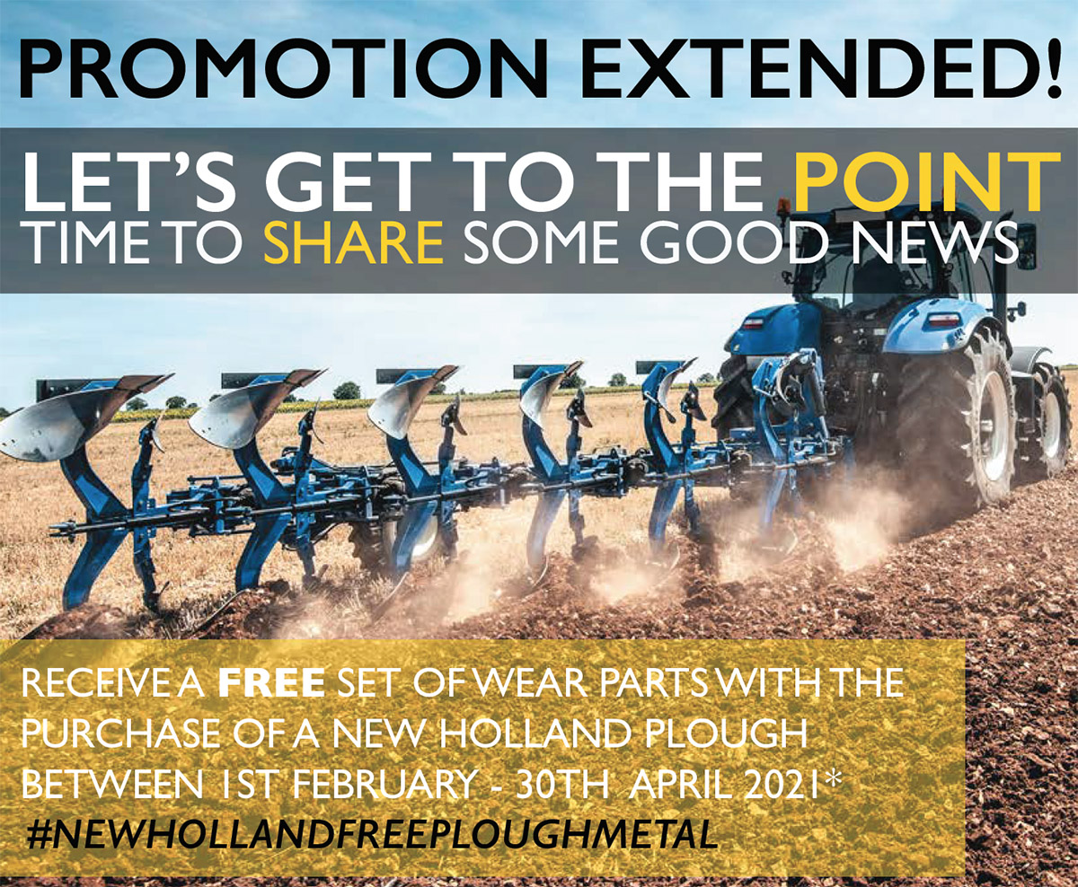 FREE WEAR PARTS FOR YOUR NEW HOLLAND PLOUGH