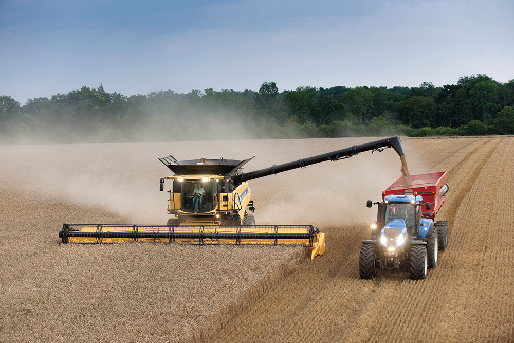 HEADS UP FOR HARVEST WITH NEW HOLLAND COMBINES AND TRACTORS
