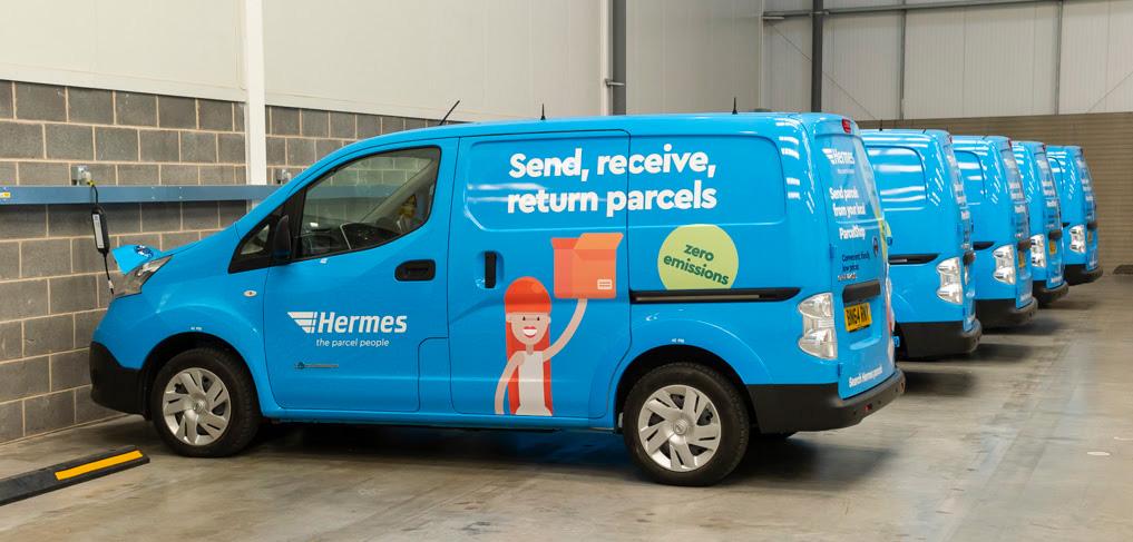 Hermes electric vehicle fleet