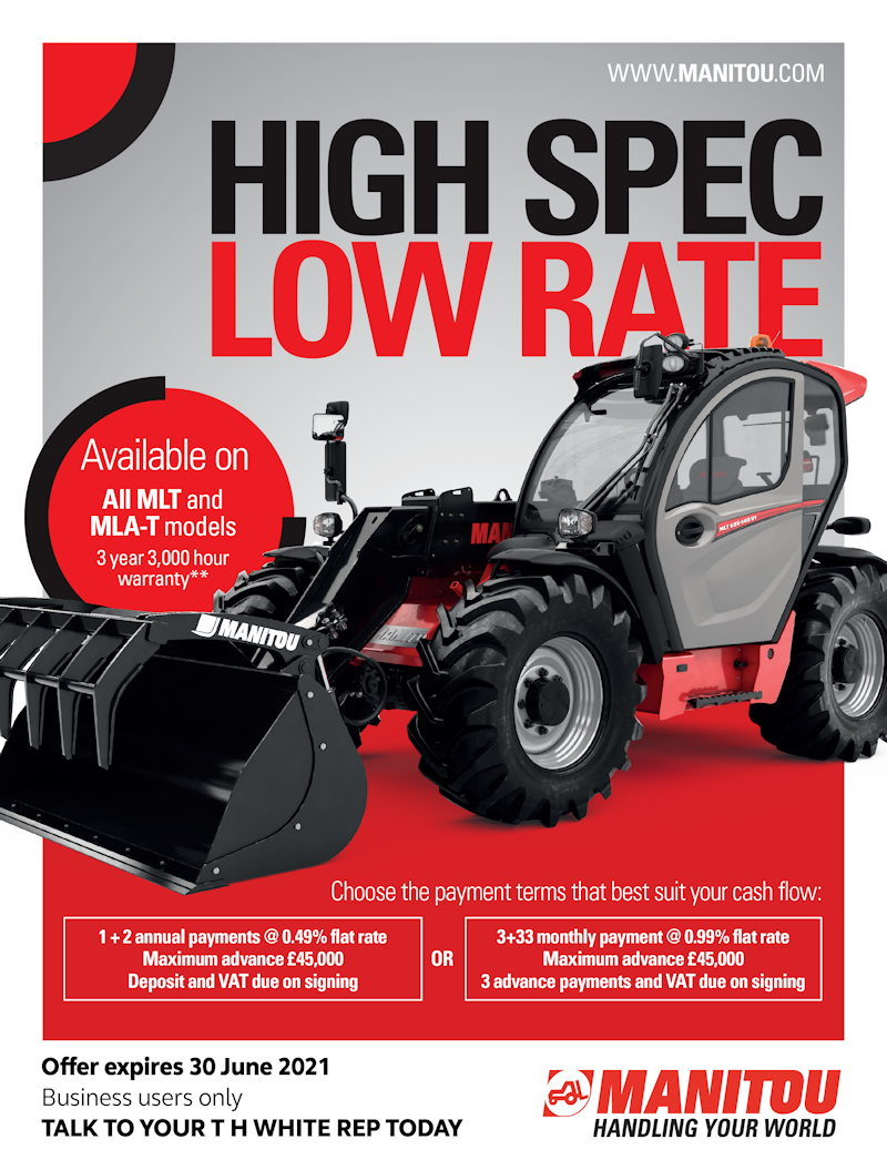 ENHANCED PAYMENT TERMS ON MANITOU MLT & MLA-T UNTIL 30TH JUNE