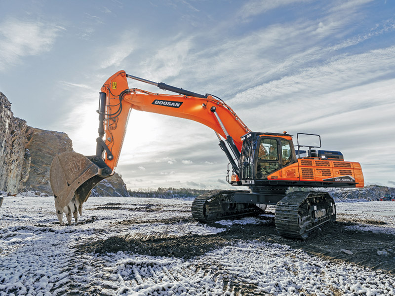 Introducing Doosan to T H WHITE Construction with low monthly finance