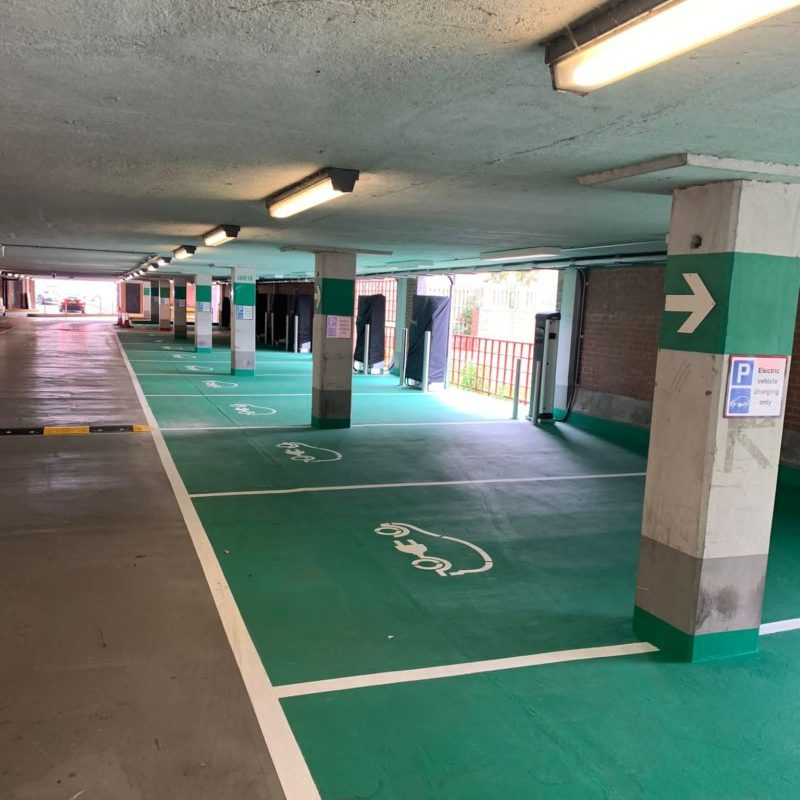 Swarco EV Chargepoint Installation for Worcester City Car Park.